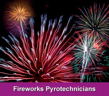 fireworks pyrotechnicians